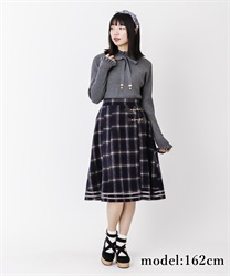 【10%OFF】Check pattern skirt