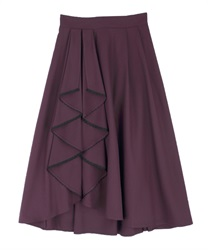 Bicolor frilled skirt