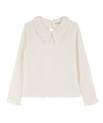 Lacey collar Pullover(Ecru-Free)