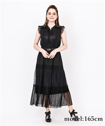【2Buy10%OFF】Back Lace Sleeveless Dress(Black-Free)