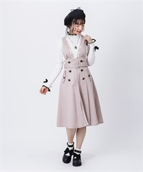 Trench design jumper skirt(Pale pink-Free)