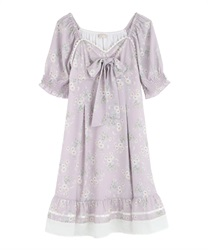 【2Buy10%OFF】Bustier Design Dress(Pale pink-Free)