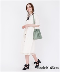 【2Buy10%OFF】Blouse Dress with Brooch