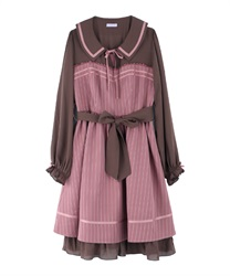 【2Buy10%OFF】A-line flared dress(DarkPink-Free)
