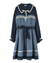 【Black Friday】A-line flared dress(Blue-Free)