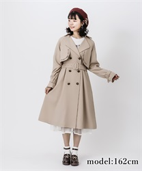 Embroidery classic trench coat(Beige-Free)