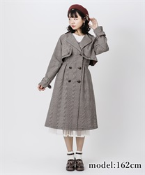 Embroidery classic trench coat(Brown-Free)