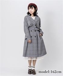 Embroidery classic trench coat(Black-Free)