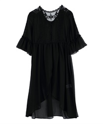 Willow Lace Long Gown(Black-Free)