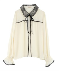 Lace Collar Blouse(Ecru-M)