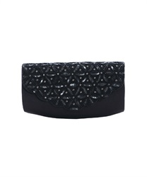 India beads clutch BAG(Black-M)