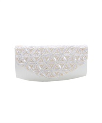 India beads clutch BAG(Silver-M)