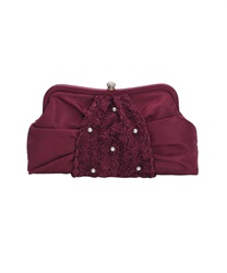Three-dimensional rose fabric Tsukai PTBAG(Wine-M)