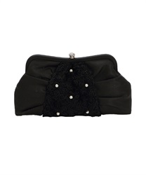 Three-dimensional rose fabric Tsukai PTBAG(Black-M)