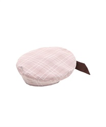 Beret with ribbon behind(Pale pink-M)