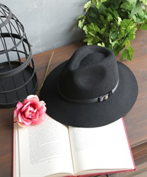 Wool hat with buttons(Black-M)