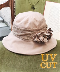 UV hat with corsage(Pale pink-M)