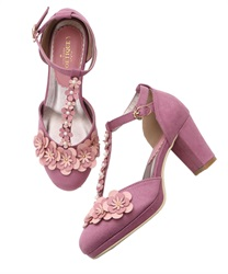 Floral Design Pumps(DarkPink-S)