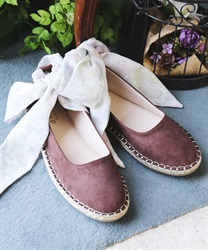 Espadrilles with ribbon(Brown-S)