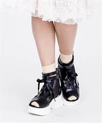 【2Buy20%OFF】Lace-up Boots Sandals