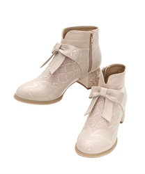 Rose Heels Ankle Boots(Beige-S)