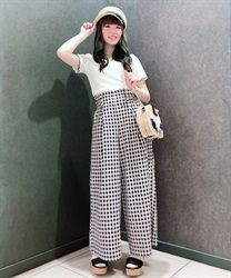 Wide pants_FI242X01P(Black-Free)