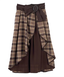 Long skirt_FI291X03P(Brown-Free)