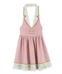 Napoleon Design Halterneck Dress(Pale pink-Free)