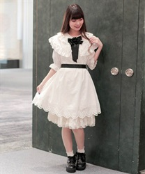 【2Buy20%OFF】Cotton dole dress(White-Free)