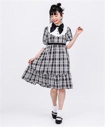 Country-style plaid dress(Black-Free)