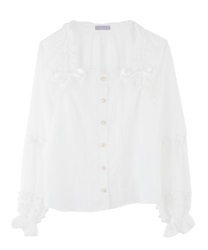 Frill Blouse(White-Free)