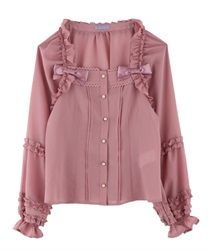 Frill Blouse(Pale pink-Free)