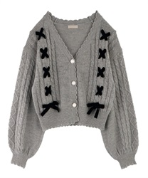 Knit cardigan_FN161X02P(Grey-Free)