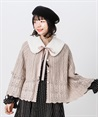 Knit cape with fur tippet(Pale pink-Free)