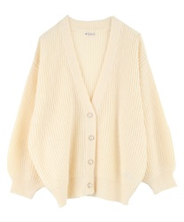 Loosely Designed Cardigan(Ecru-Free)