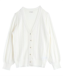 Middle length long cardigan(Ecru-Free)