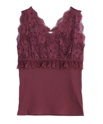 Lace Design Tank(Wine-Free)