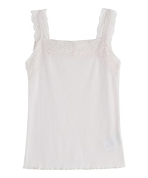 Lace sleeveless tank(Ecru-Free)