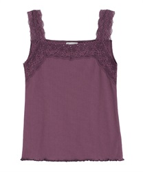 Lace sleeveless tank(Purple-Free)