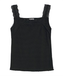 Lace sleeveless tank(Black-Free)
