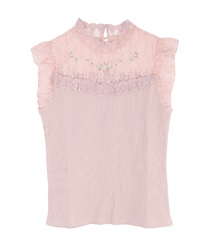 Roses embroidery biset tank