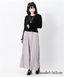 【2Buy10%OFF】Satin pleated pants