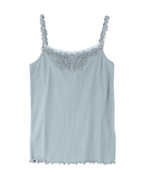 Motif lace tank top(Green-Free)