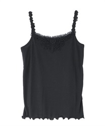 Motif lace tank top(Black-Free)