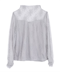【2Buy10%OFF】Full Lace Pullover(Grey-Free)