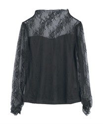 【2Buy10%OFF】Full Lace Pullover(Black-Free)