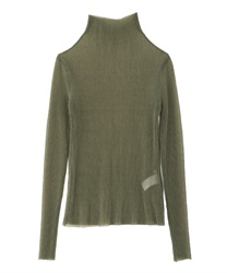 Pleated cut pullover(Green-Free)