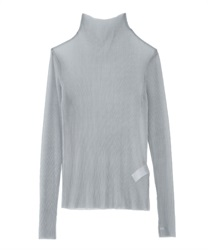 Pleated cut pullover(Grey-Free)