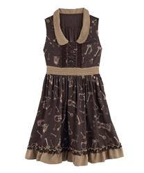Theme:Tales Of Nostalgia .A-Line Dress 【Only at ONLINE SHOP】(Brown-Free)