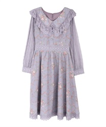 Flower bouquet tracy dress(Lavender-Free)